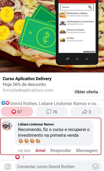 curso delivery facebook